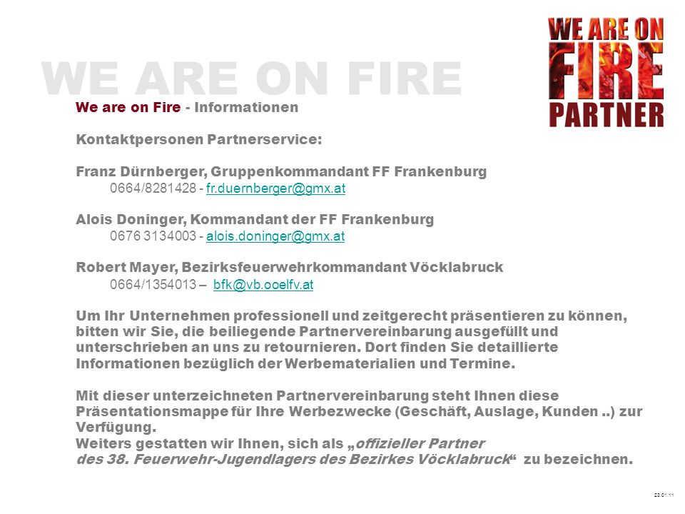 WE ARE ON FIRE We are on Fire - Informationen