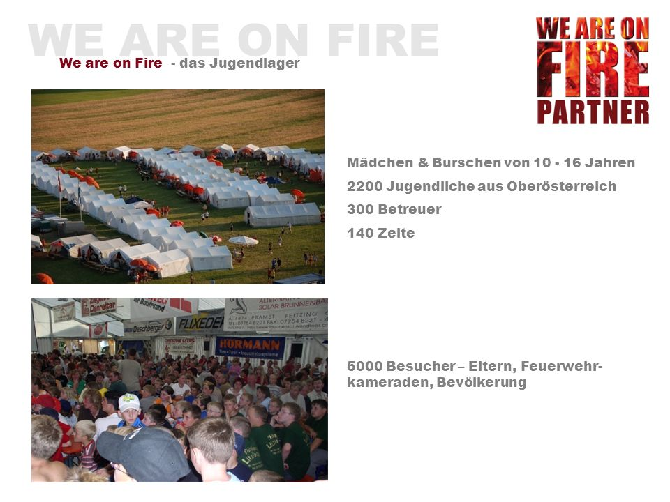 WE ARE ON FIRE We are on Fire - das Jugendlager