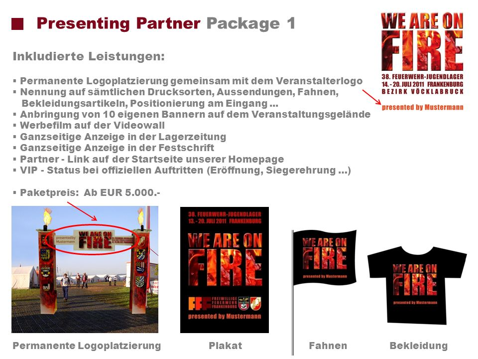 Presenting Partner Package 1