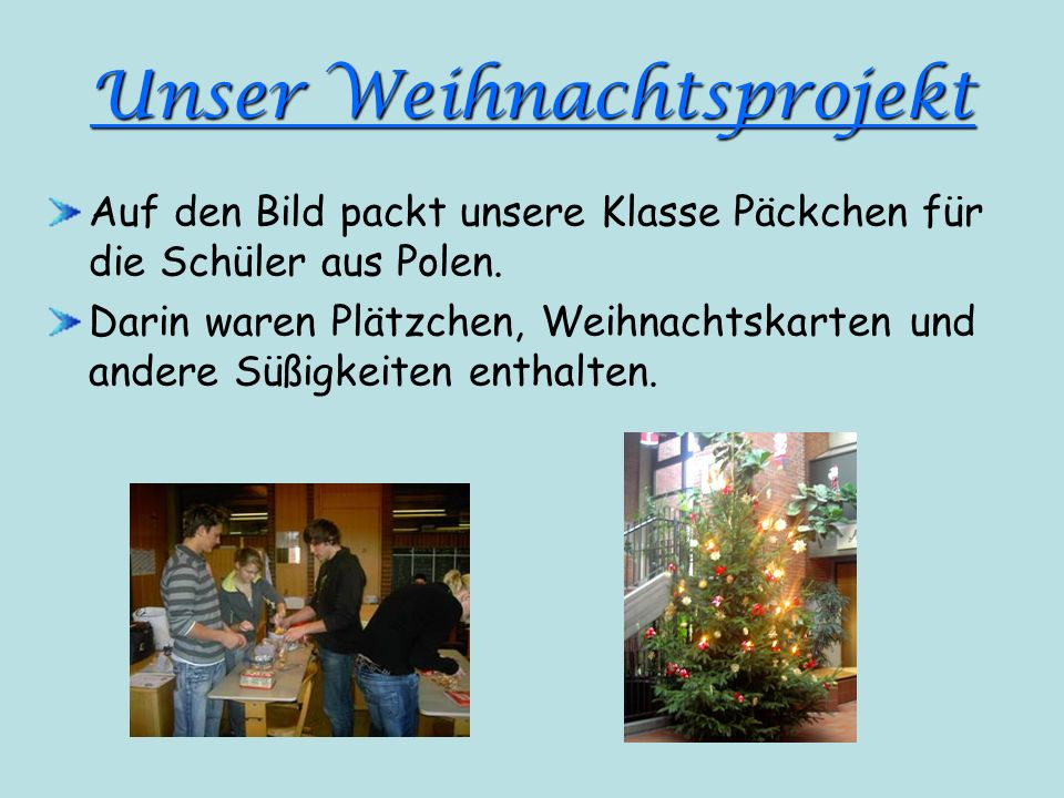 Unser Weihnachtsprojekt