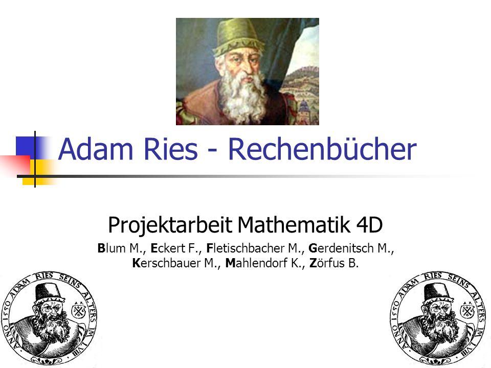 Adam Ries - Rechenbücher