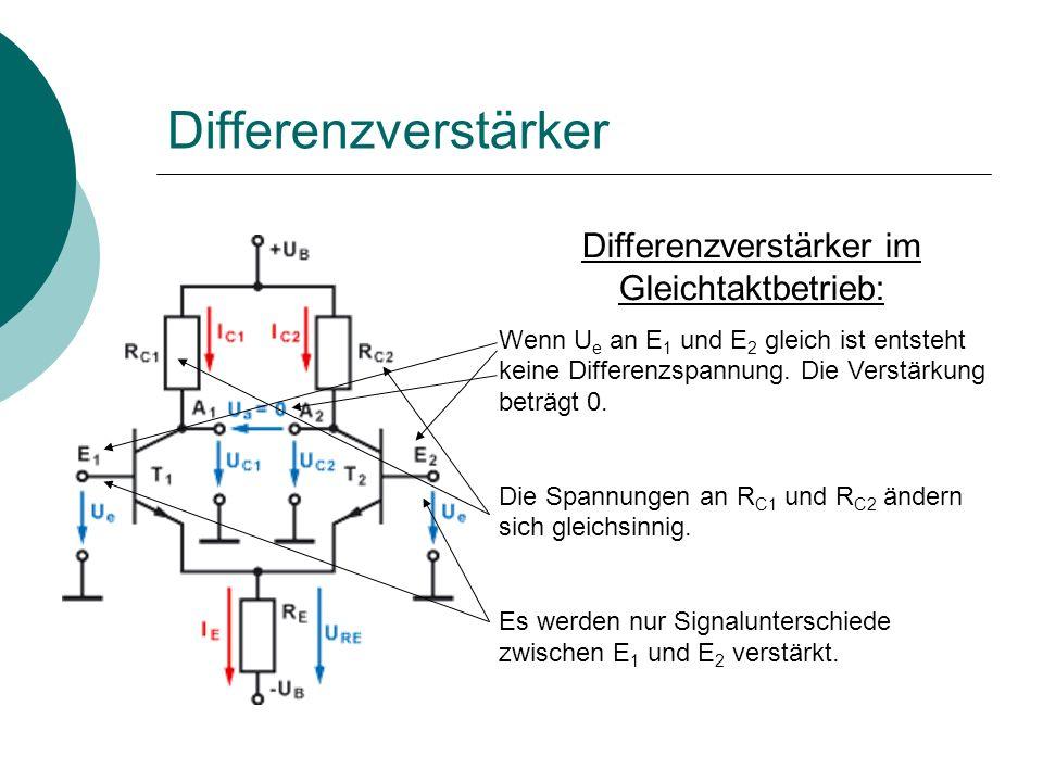 Differenzverstärker im Gleichtaktbetrieb: