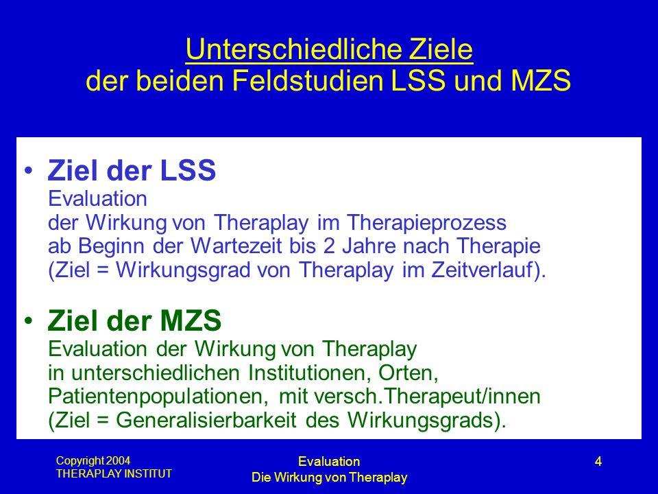 Unterschiedliche Ziele der beiden Feldstudien LSS und MZS