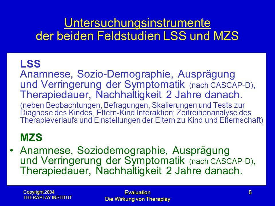 Untersuchungsinstrumente der beiden Feldstudien LSS und MZS