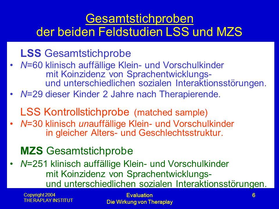 Gesamtstichproben der beiden Feldstudien LSS und MZS