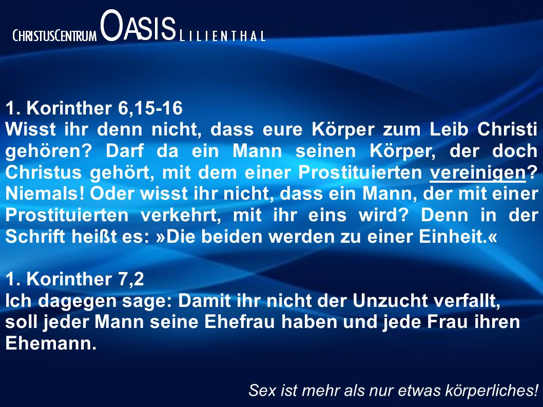 1. Korinther 6,15-16