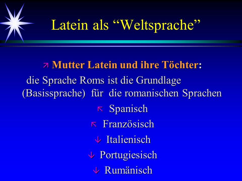 Latein als Weltsprache