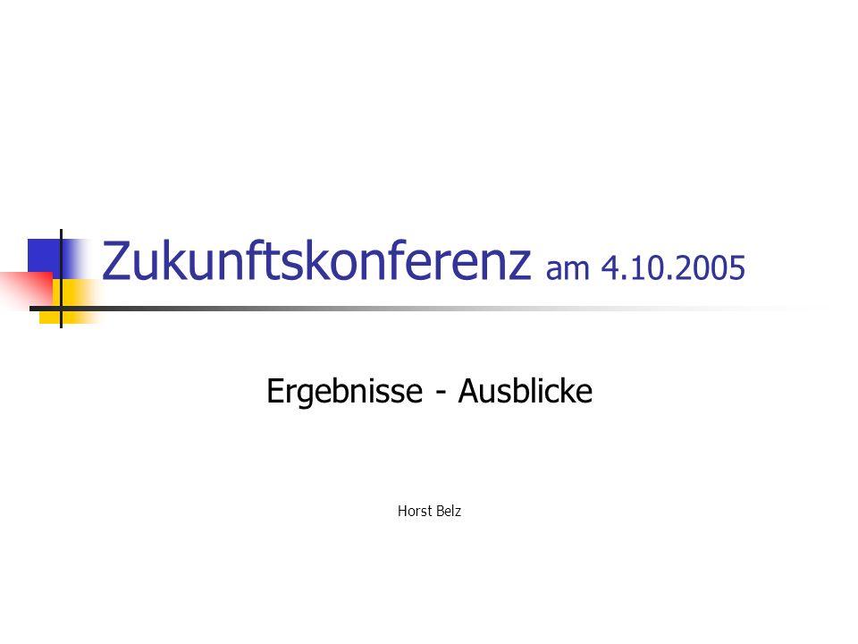 Ergebnisse - Ausblicke Horst Belz