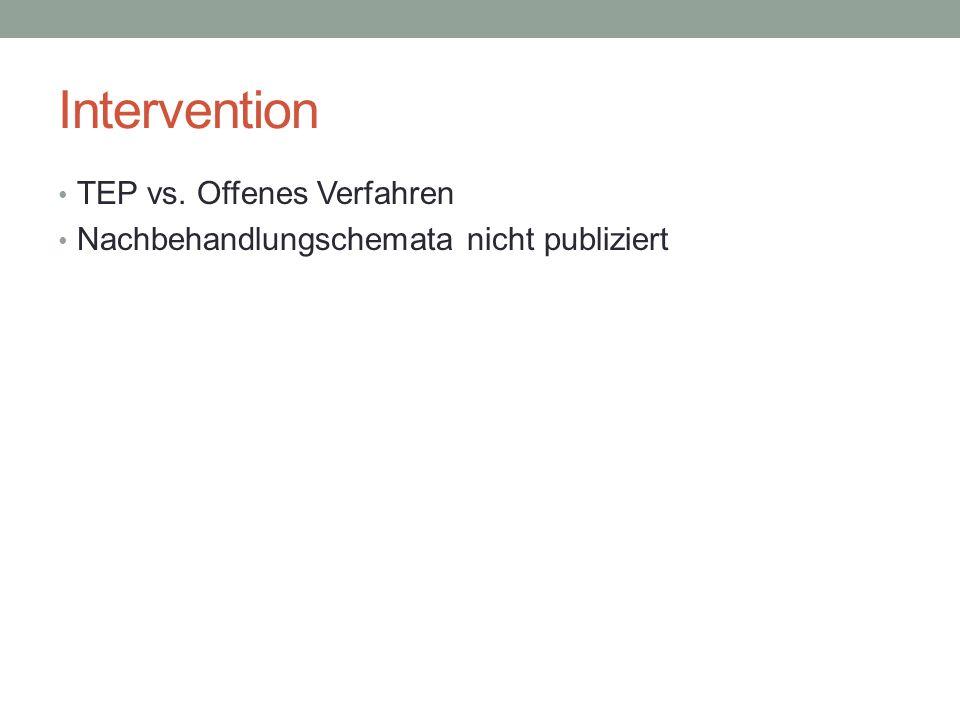 Intervention TEP vs. Offenes Verfahren