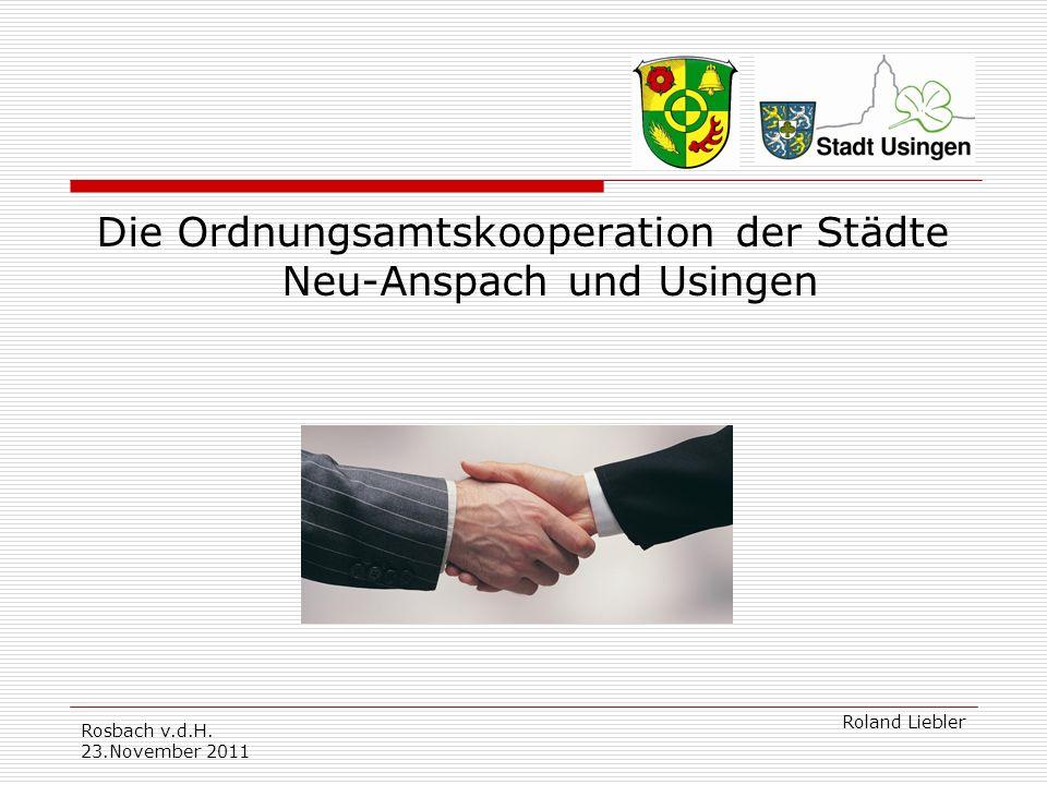 Die Ordnungsamtskooperation der Städte Neu-Anspach und Usingen