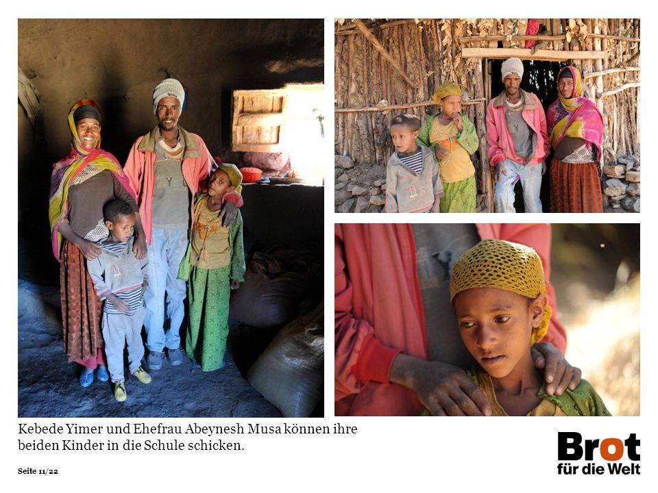 Kebede Yimer und Ehefrau Abeynesh Musa können ihre beiden Kinder in die Schule schicken.
