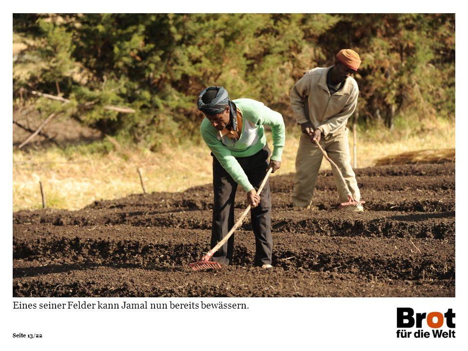 Eines seiner Felder kann Jamal nun bereits bewässern.