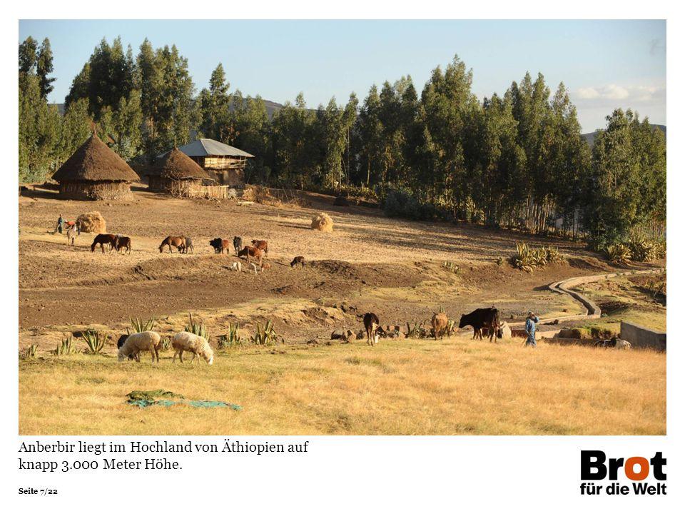 Anberbir liegt im Hochland von Äthiopien auf knapp 3.000 Meter Höhe.