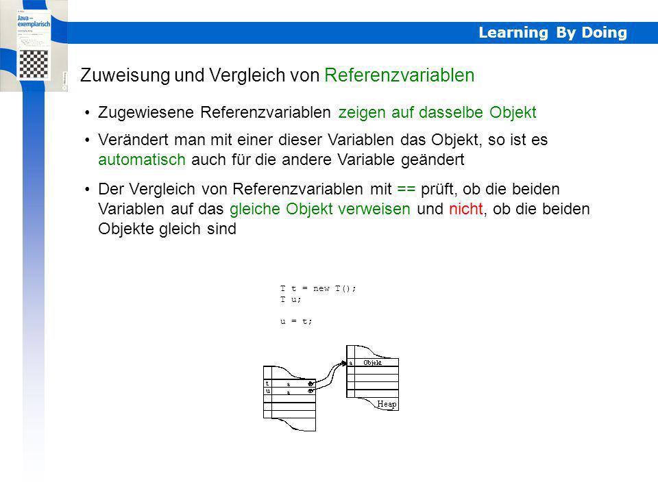 Zuweisung und Vergleich von Referenzvariablen