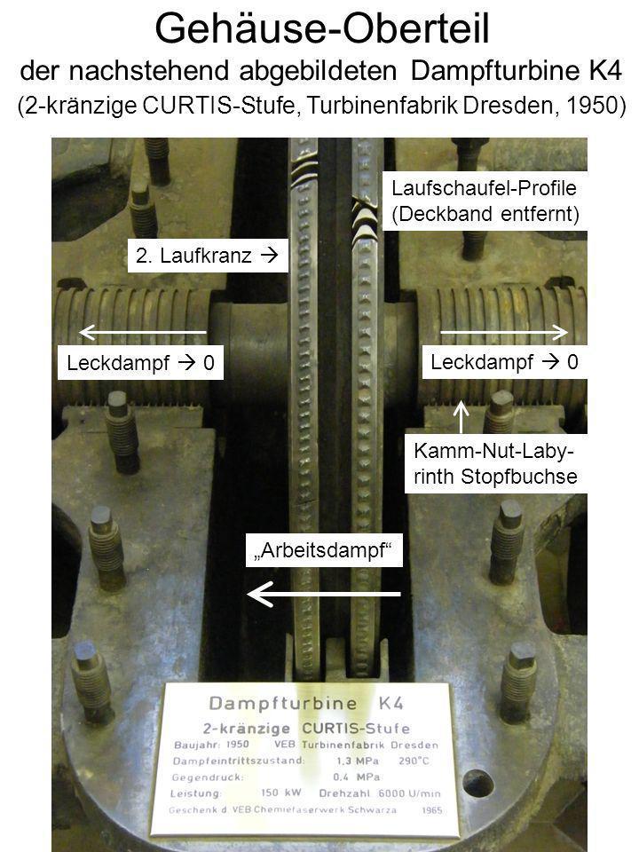 Gehäuse-Oberteil der nachstehend abgebildeten Dampfturbine K4