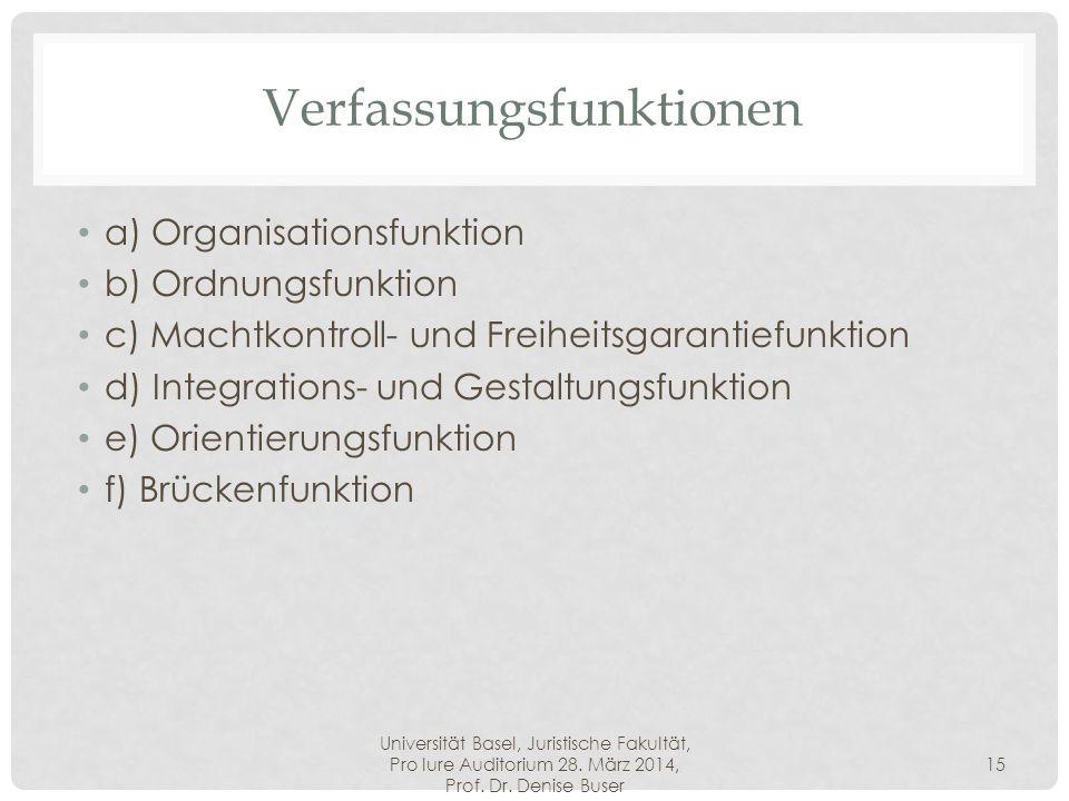 Verfassungsfunktionen