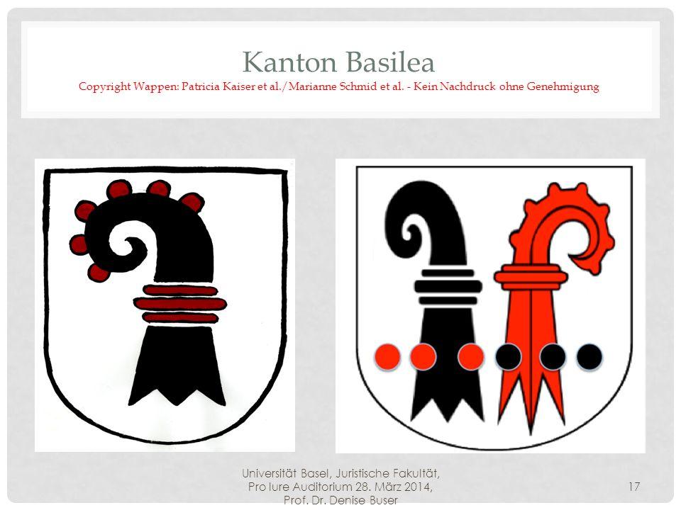 Kanton Basilea Copyright Wappen: Patricia Kaiser et al