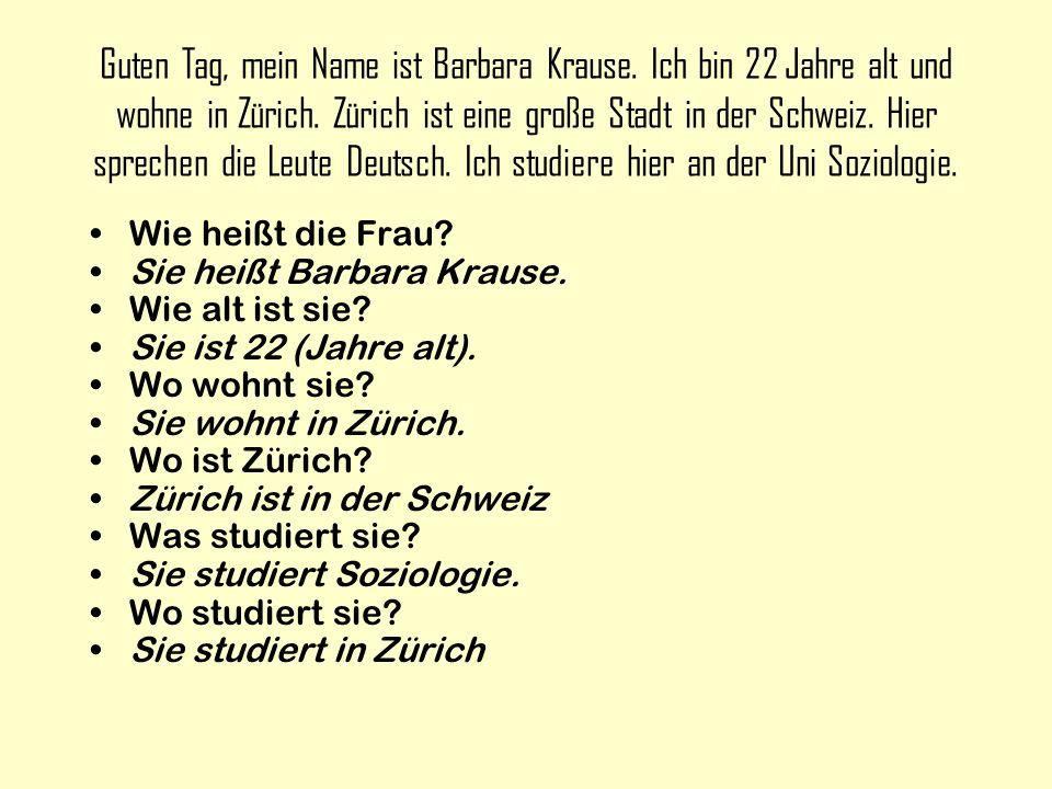 Guten Tag, mein Name ist Barbara Krause