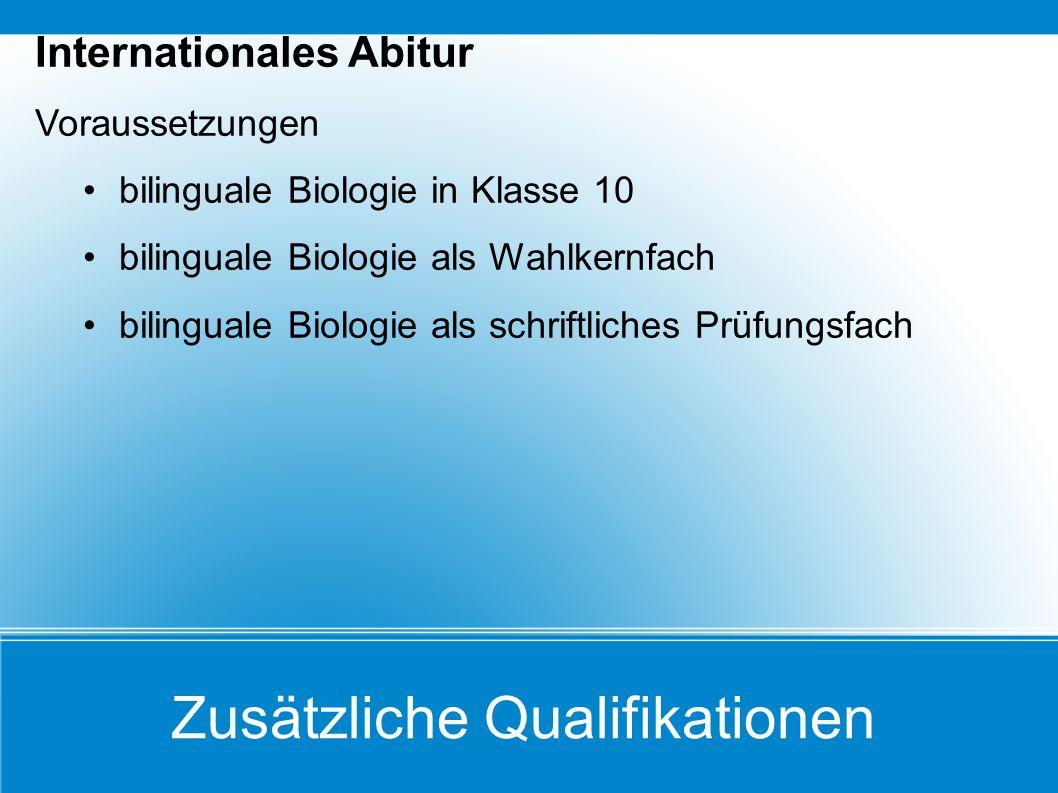 Zusätzliche Qualifikationen