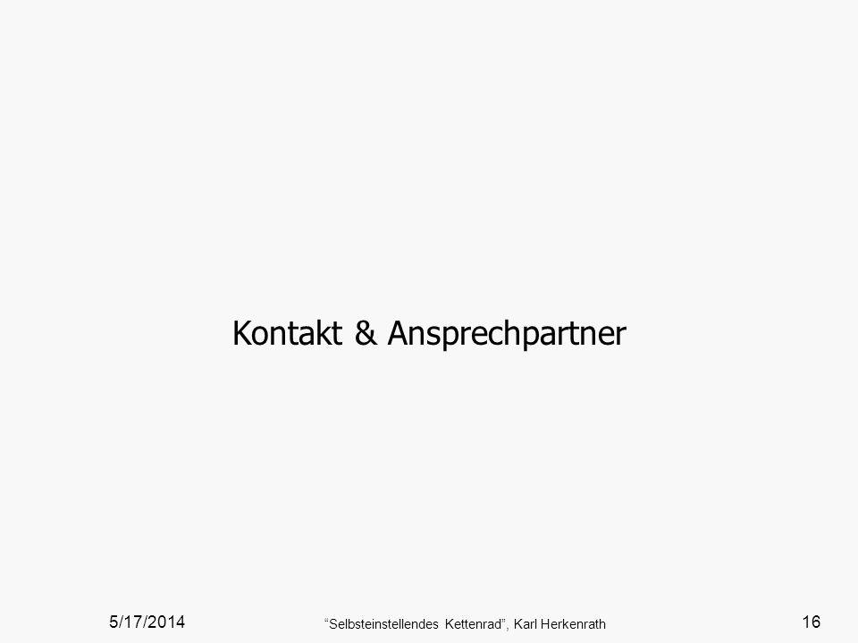 Kontakt & Ansprechpartner