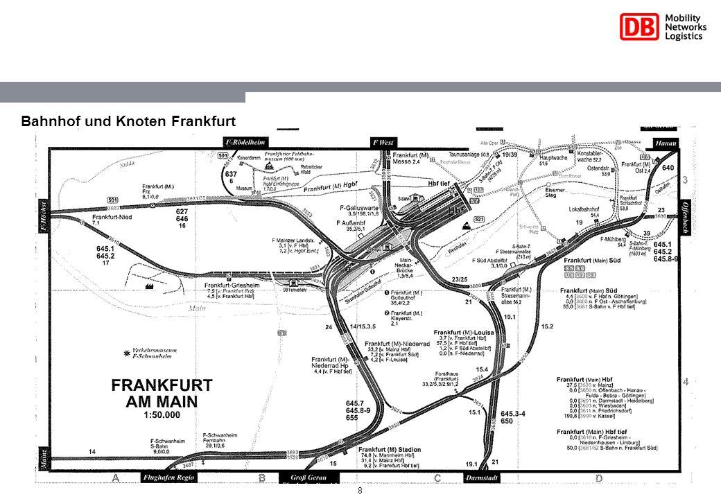 Bahnhof und Knoten Frankfurt
