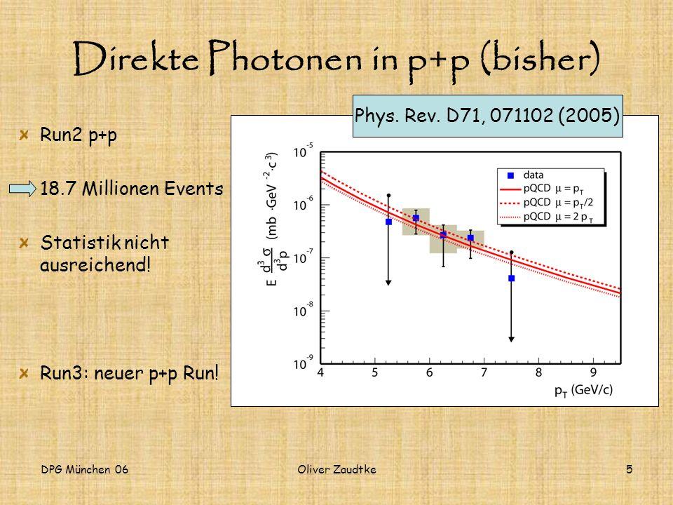 Direkte Photonen in p+p (bisher)