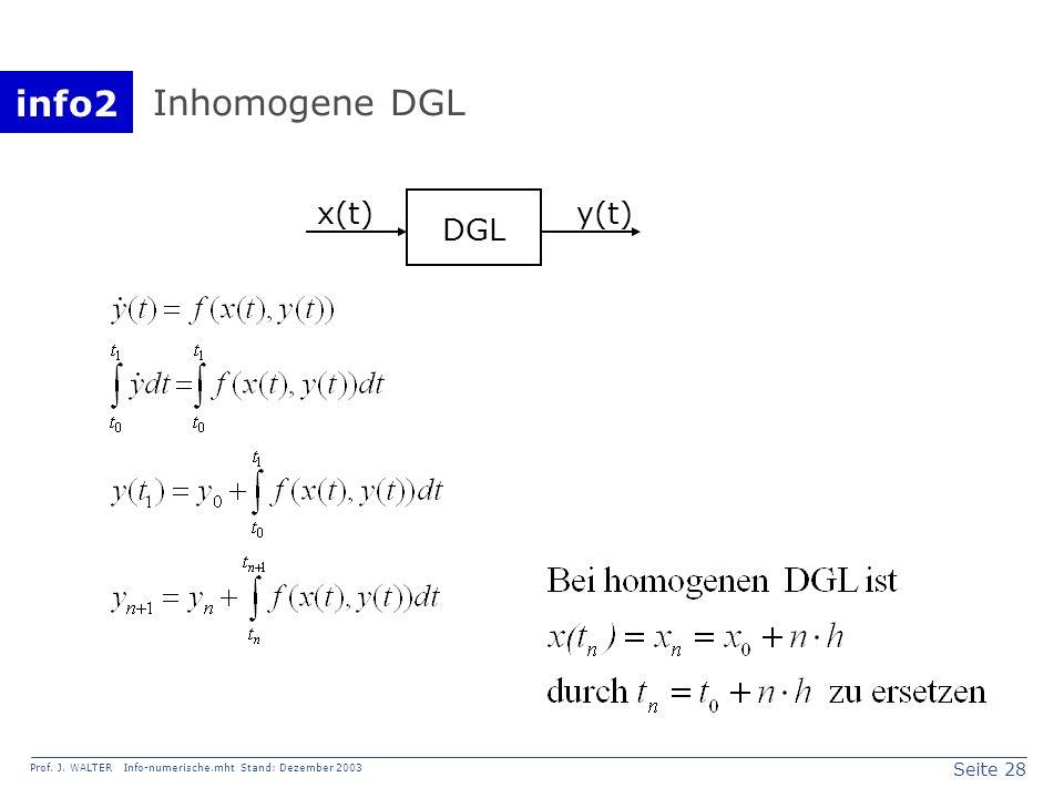 Inhomogene DGL x(t) y(t) DGL