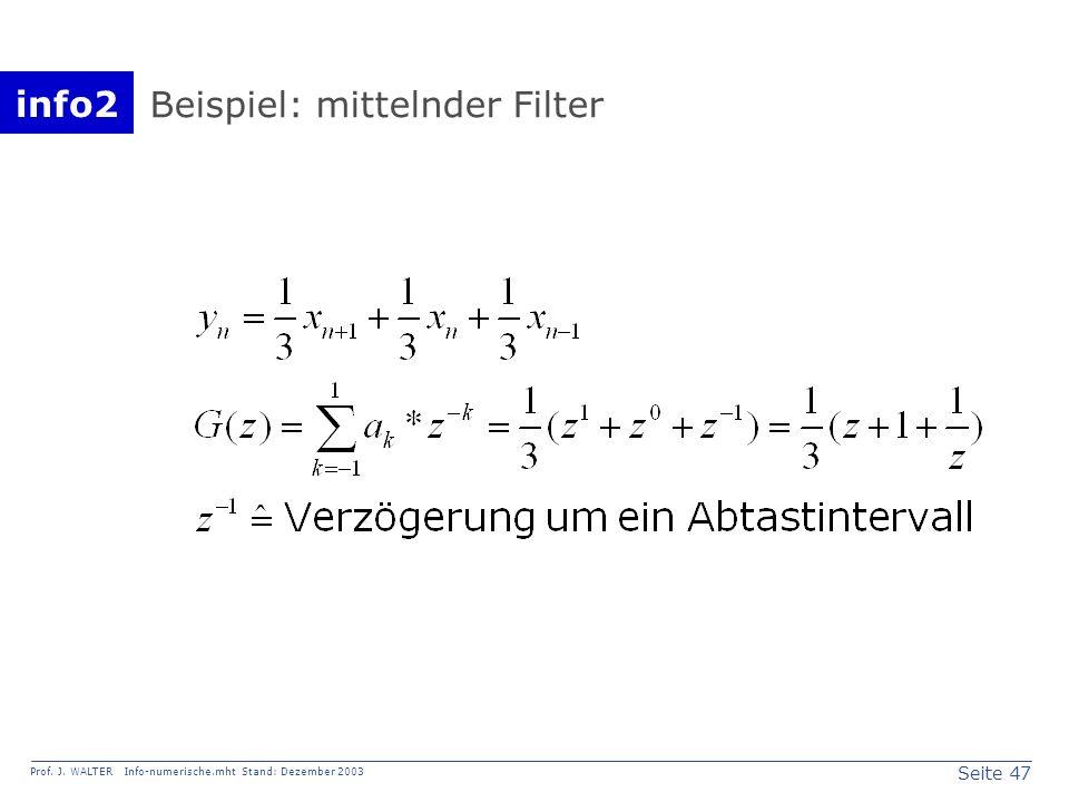 Beispiel: mittelnder Filter