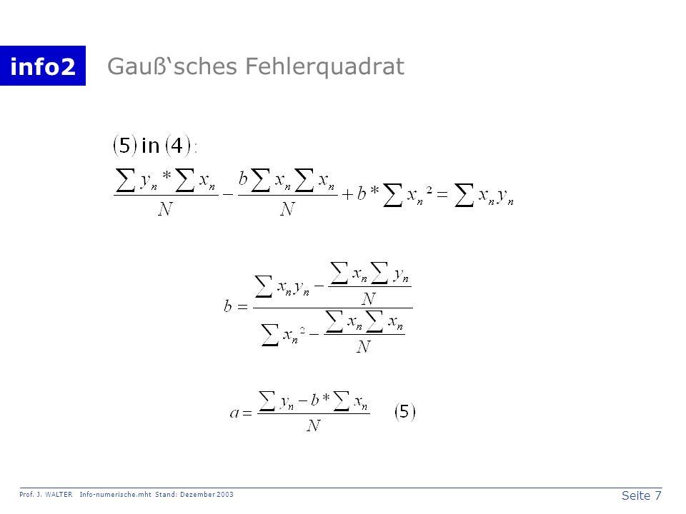 Gauß'sches Fehlerquadrat