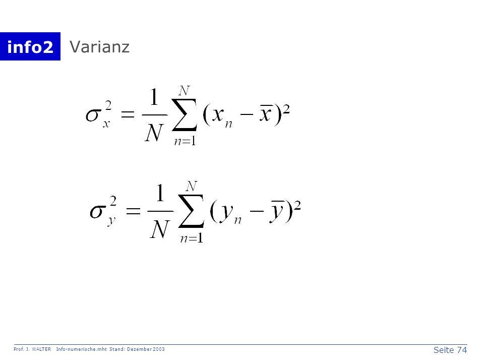 Varianz