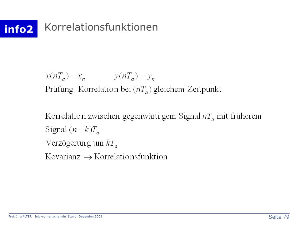 Korrelationsfunktionen