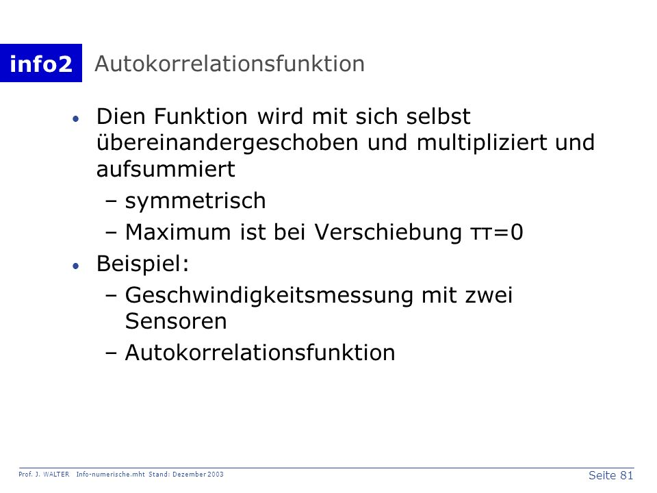 Autokorrelationsfunktion