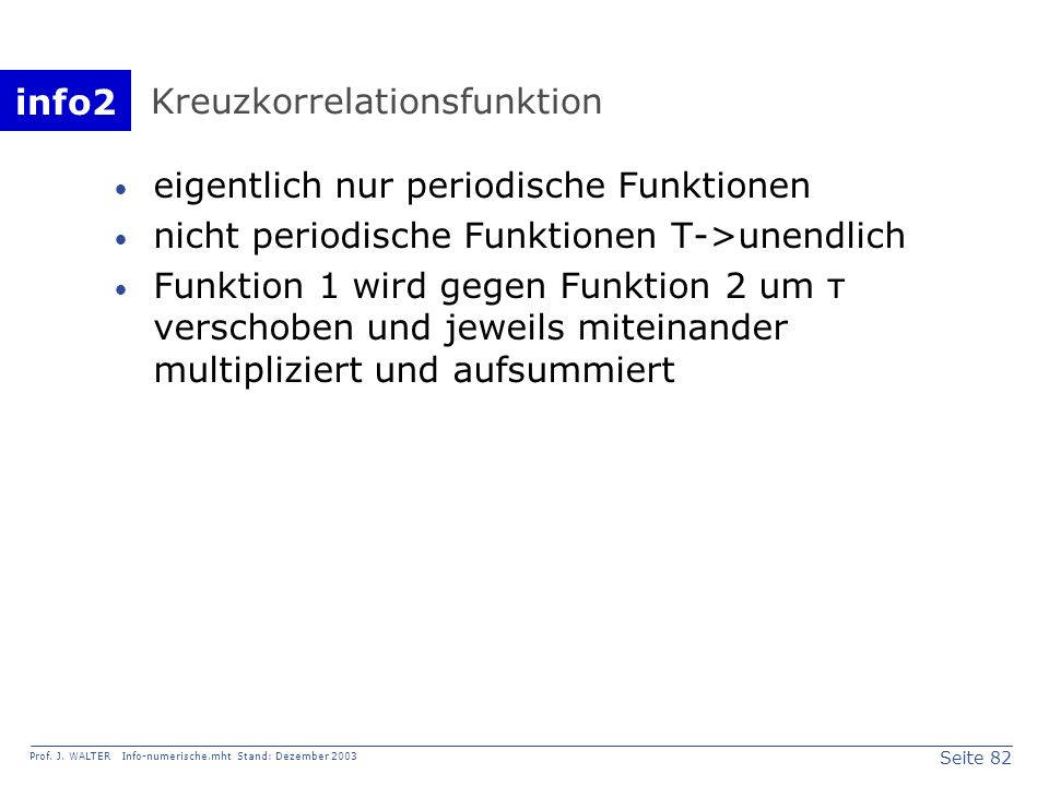 Kreuzkorrelationsfunktion