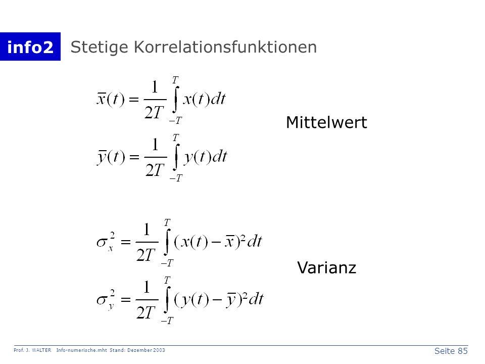 Stetige Korrelationsfunktionen