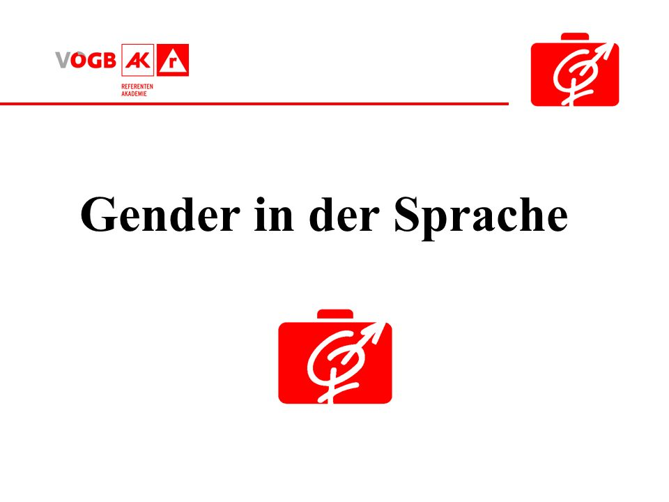 Gender in der Sprache