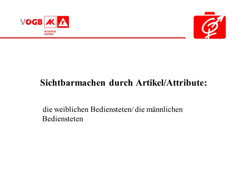 Sichtbarmachen durch Artikel/Attribute: