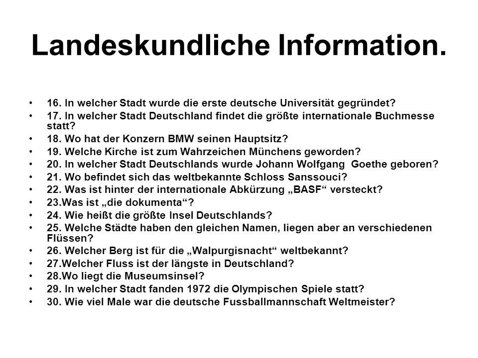 Landeskundliche Information.