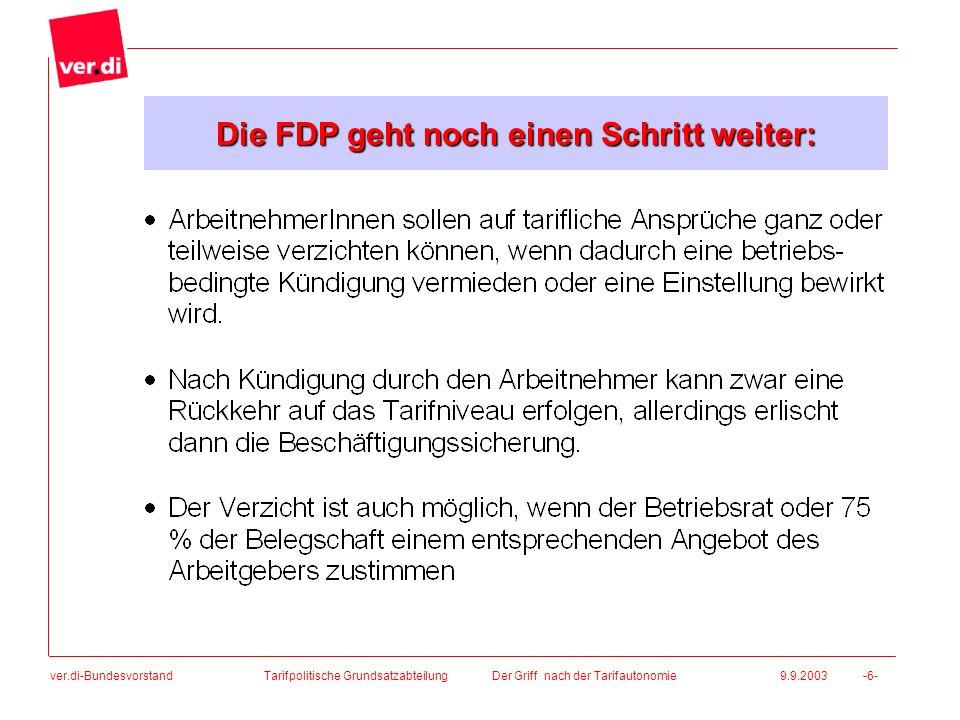 Die FDP geht noch einen Schritt weiter: