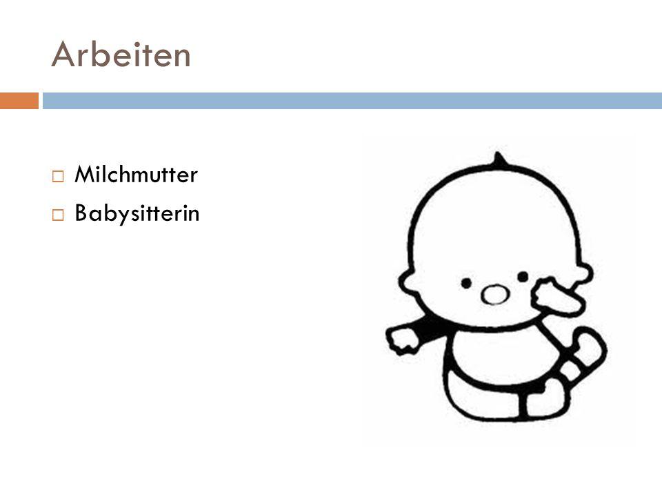 Arbeiten Milchmutter Babysitterin