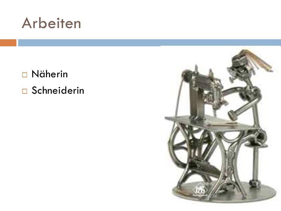 Arbeiten Näherin Schneiderin