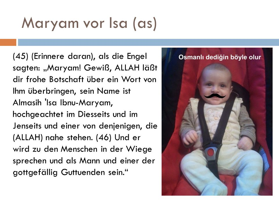 Maryam vor Isa (as)