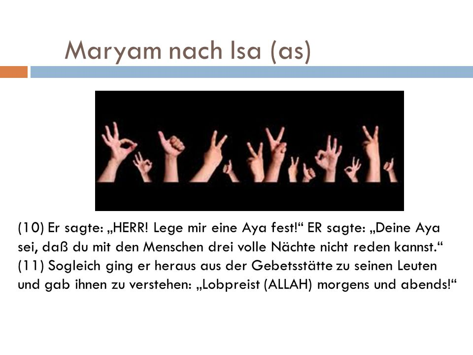 Maryam nach Isa (as)