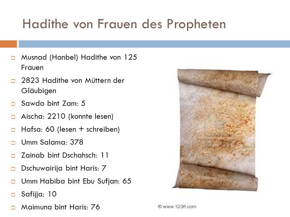 Hadithe von Frauen des Propheten