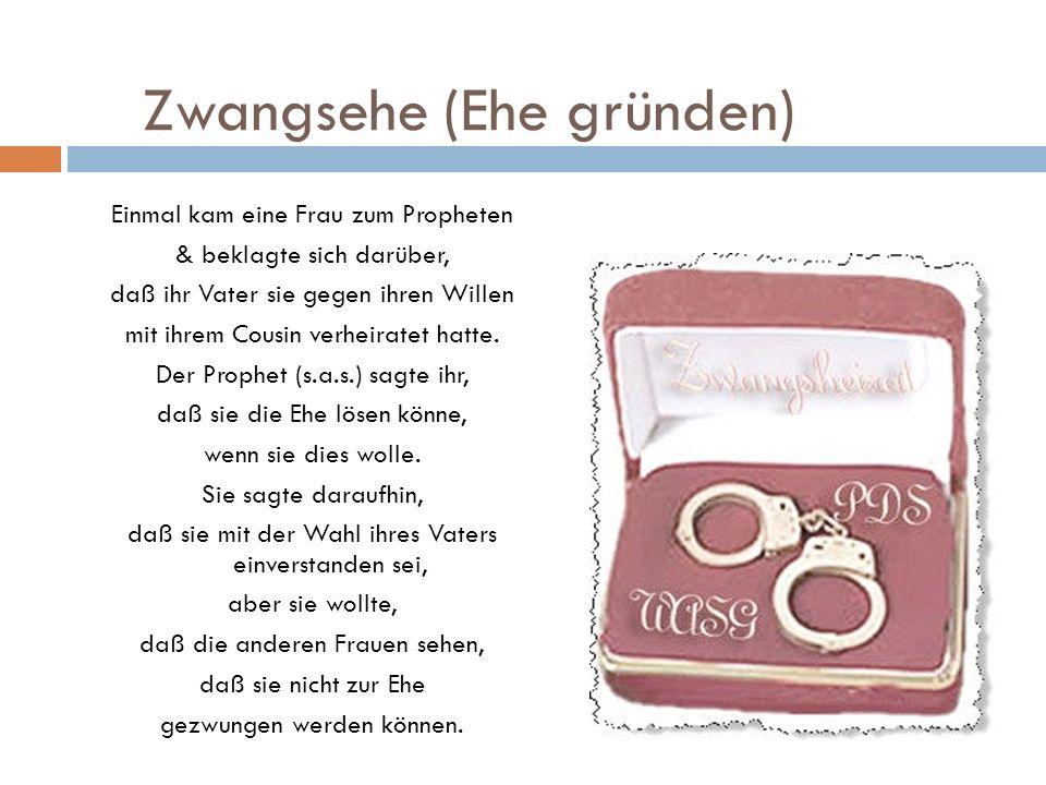 Zwangsehe (Ehe gründen)