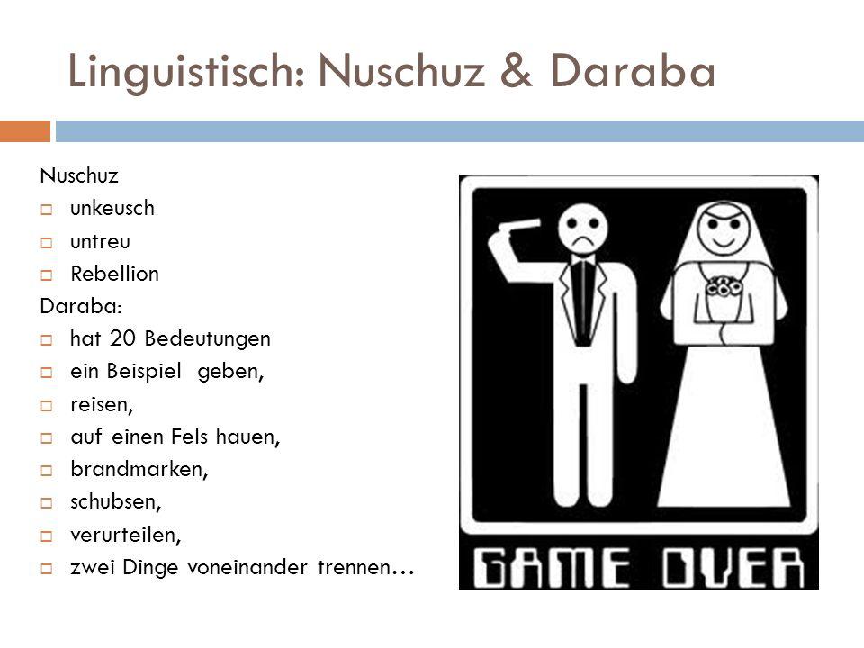Linguistisch: Nuschuz & Daraba
