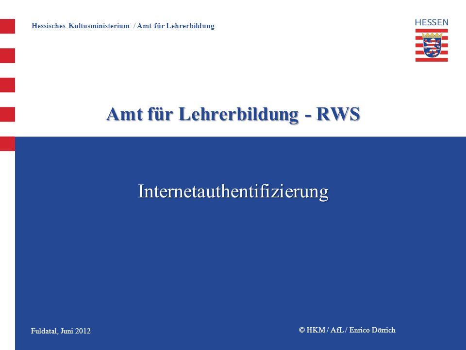 Amt für Lehrerbildung - RWS