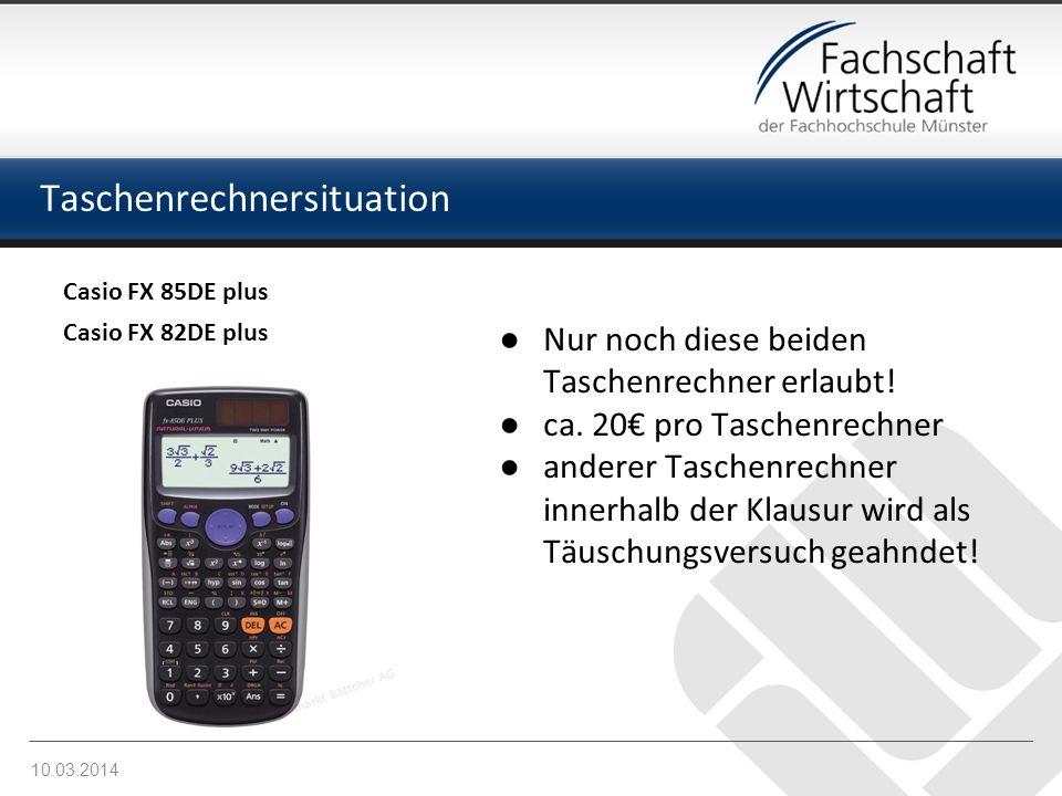 Taschenrechnersituation