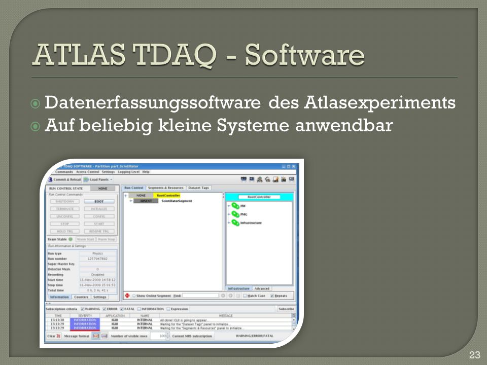 ATLAS TDAQ - Software Datenerfassungssoftware des Atlasexperiments