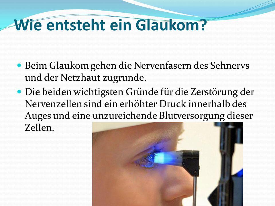 Wie entsteht ein Glaukom