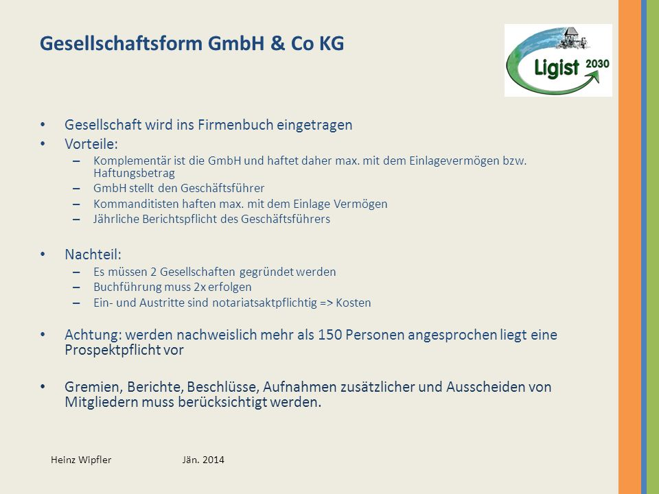 Gesellschaftsform GmbH & Co KG
